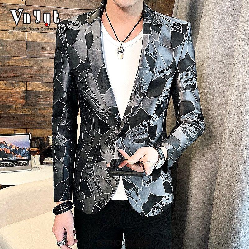 Blazer Mens Buy Europe Men Slim Fit Thin Section Suit Coat Gray