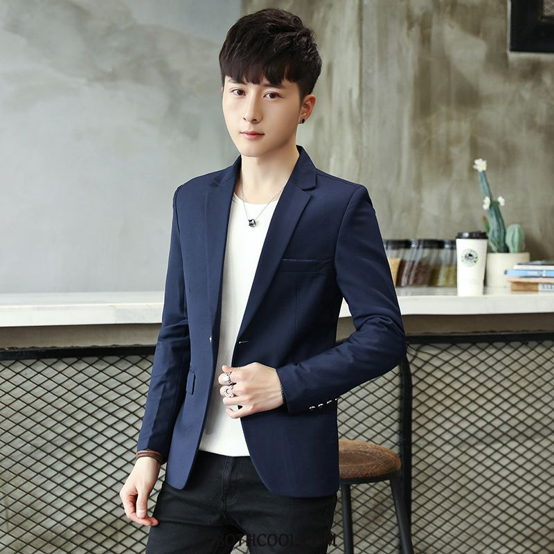Blazer Mens Buy Gowns Summer Slim Fit Thin Section Casual All-match Blue