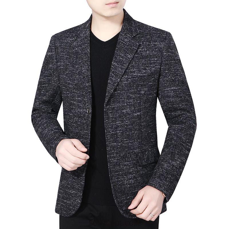 Blazer Mens Buy Middle Aged Suit Father New Coat Autumn Black
