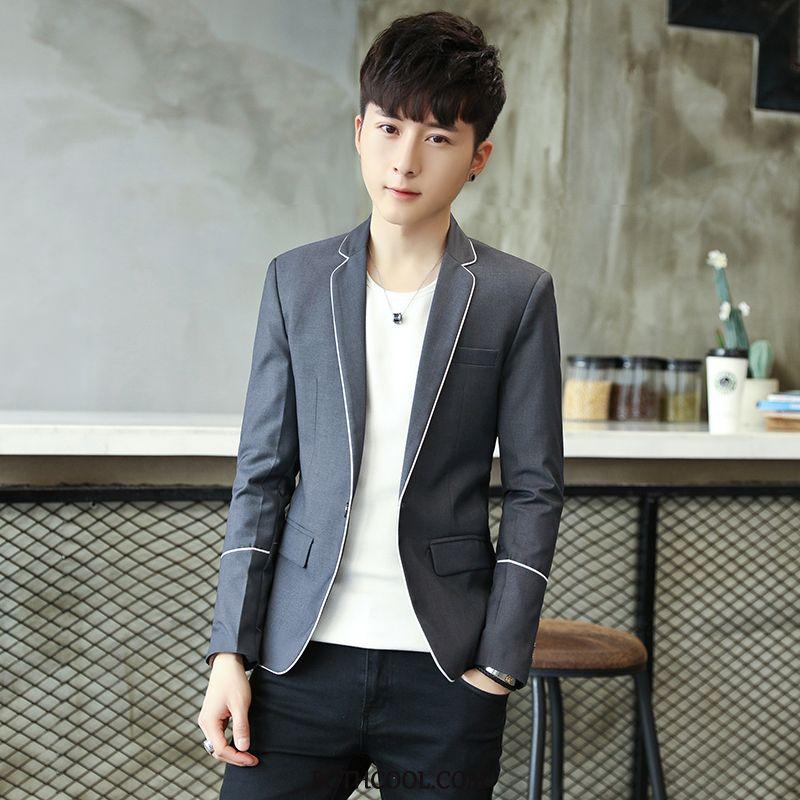 Blazer Mens Cheap Suit Men Casual Teens Slim Fit Men's Gray
