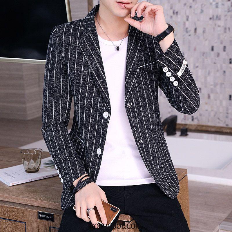 Blazer Mens Cheap Suit Tops Coat Men Suit Personality Black