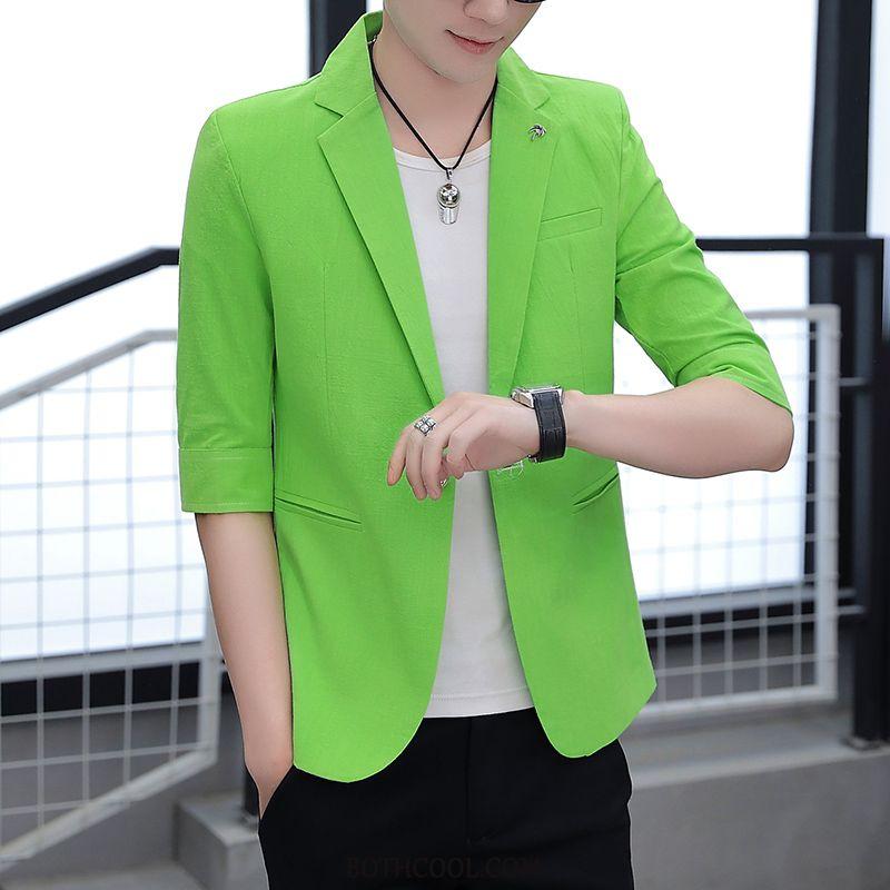 Blazer Mens Discount Men's Slim Fit Trend Men's Europe Casual Green