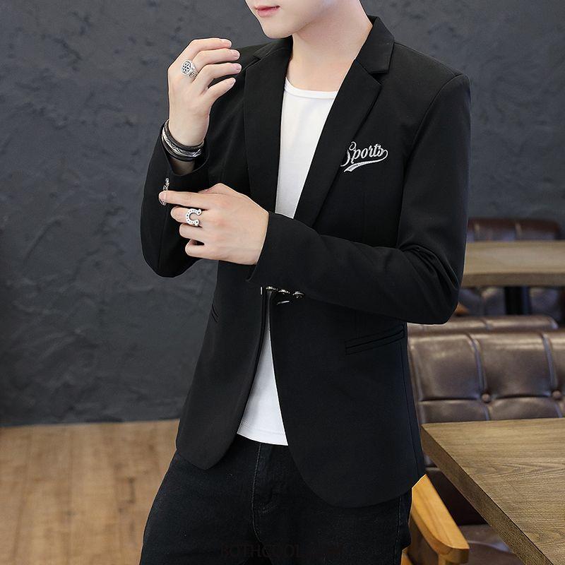 Blazer Heren Sale Jas Heren Pak Slim Fit Mooi Trend Wit