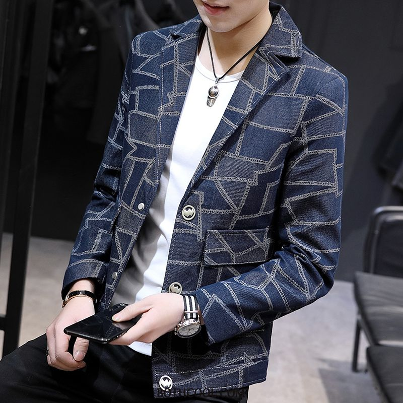Blazer Mens Online Sale Men's Coat Youth Handsome Men Slim Fit Blue