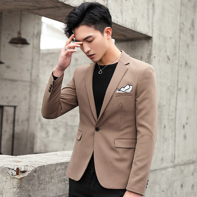 Blazer Heren Korting Slim Fit Heren Pak Mooi 2019 Trend Licht