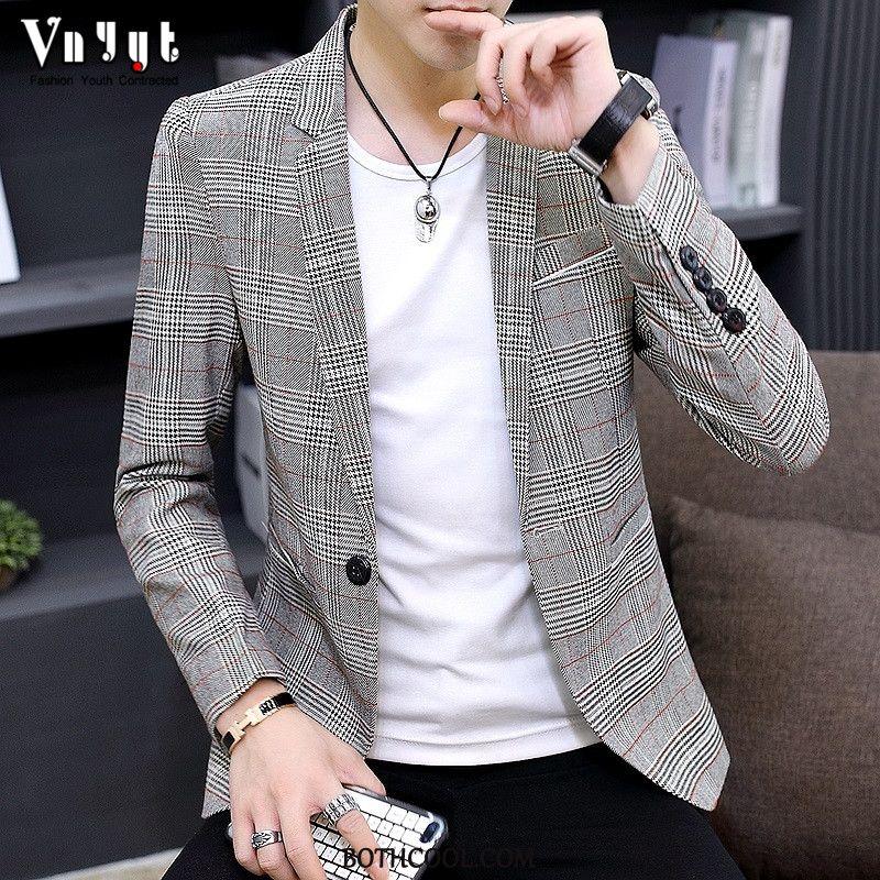 Blazer Mens Shop Online Suit Suit Europe Spring Thin Section Simple Gray