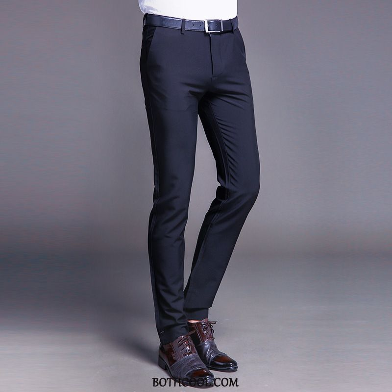 Kostuumbroek Heren Winkel Bedrijf Comfortabele Pak Casual Alle Wedstrijden Slim Fit