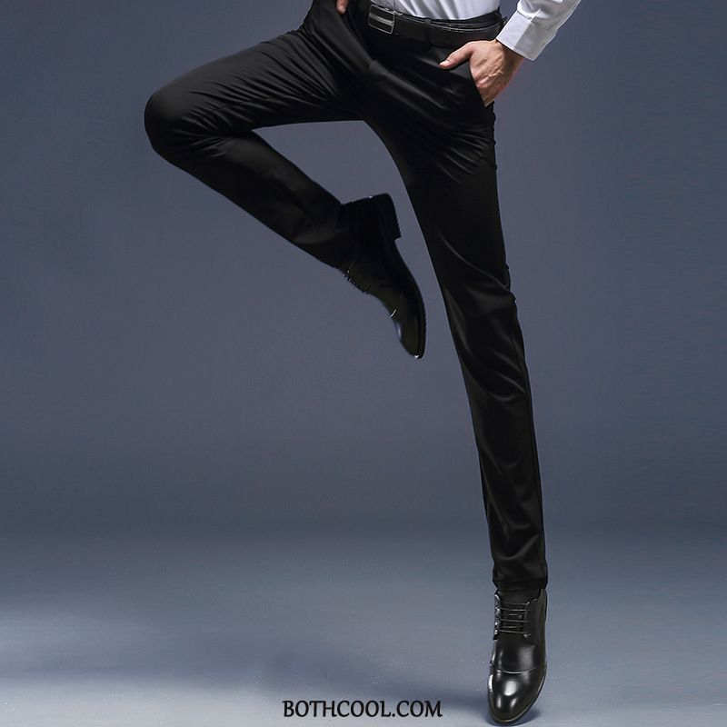 Suit Pants Mens For Sale Trousers Casual Slim Fit Men's Youth Business Black