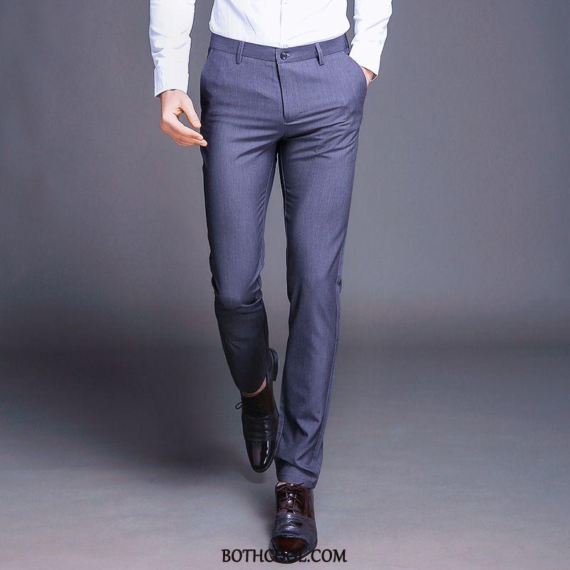 Kostuumbroek Heren Goedkope Slim Fit Broek Pak Comfortabele Bedrijf Alle Wedstrijden