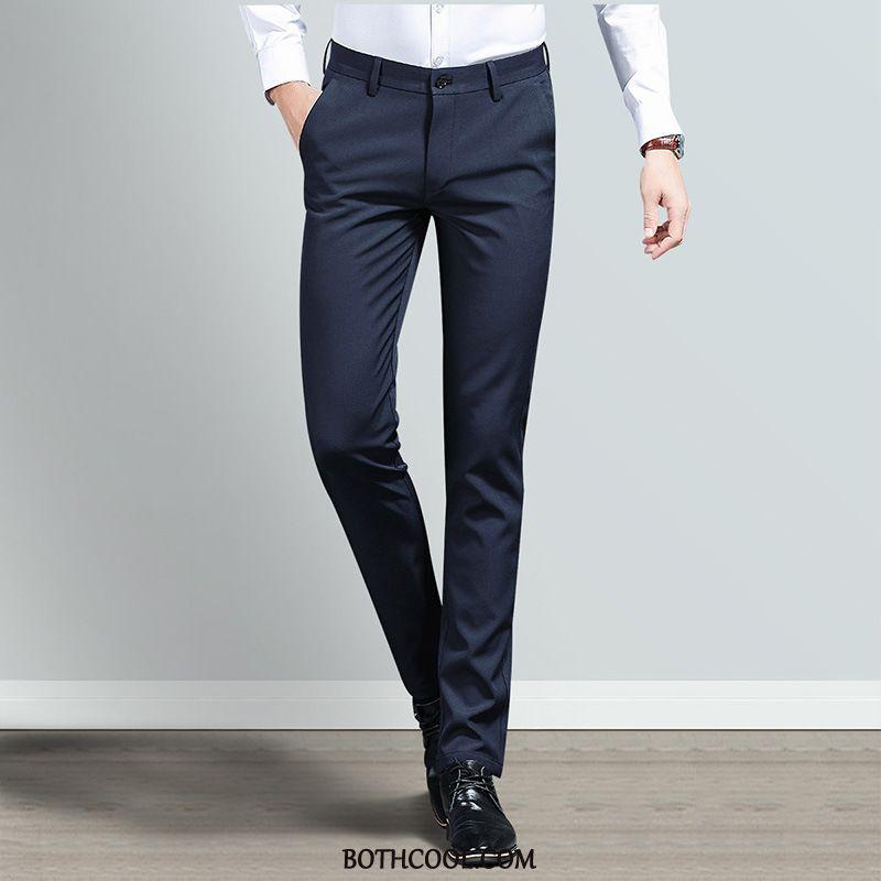 Pantaloni Da Abito Uomo Comprare Business Dritto Vestiti Pantaloni Da Abito Lavoro Casual Grigio