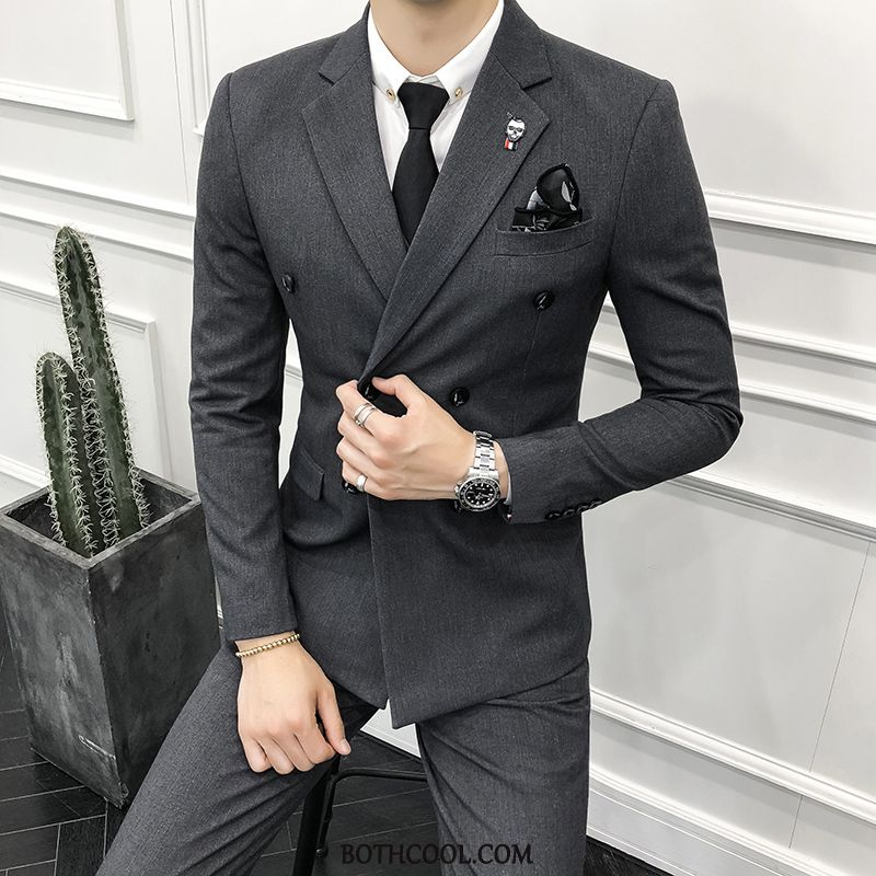 Suits Mens Buy Double Breasted Trend Men Europe Slim Fit Suit Red