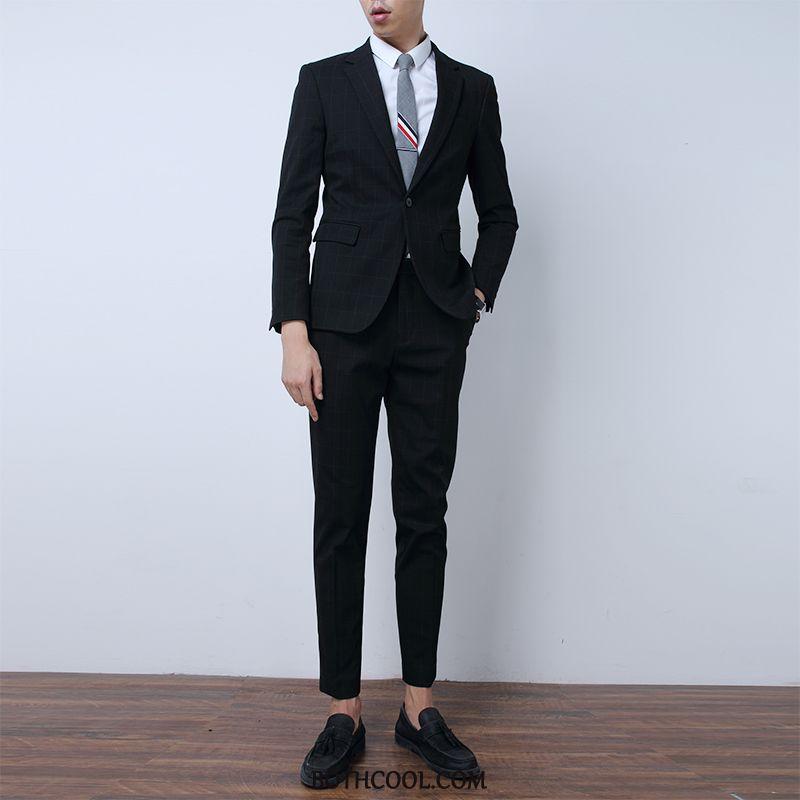 Suits Mens Buy Set Wedding Men's Blazer Slim Fit Suit Dark Gray