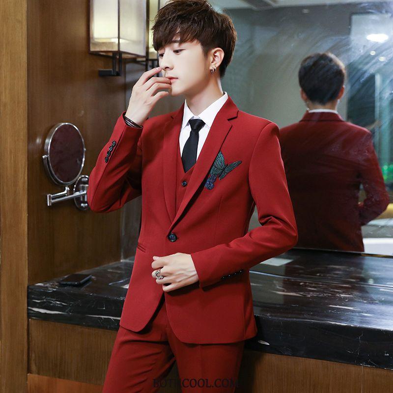 Suits Mens Buy Student Best Man Suit Men Teens Business Red