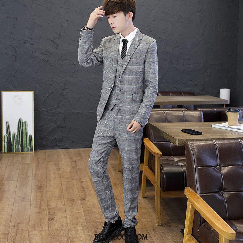Suits Mens Cheap Autumn Bridegroom Formal Suit Wedding Suit Men Navy