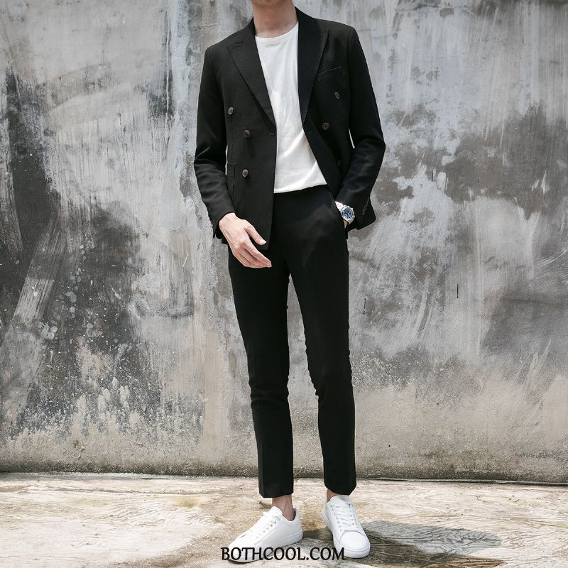 Suits Mens Cheap Europe Suit Wedding Handsome Slim Fit Casual Green