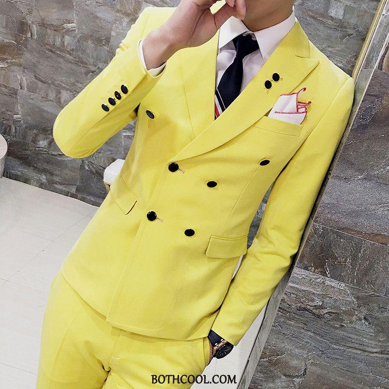 Suits Mens Cheap Formal Suit Suit Suit Professional Men Wedding Yellow