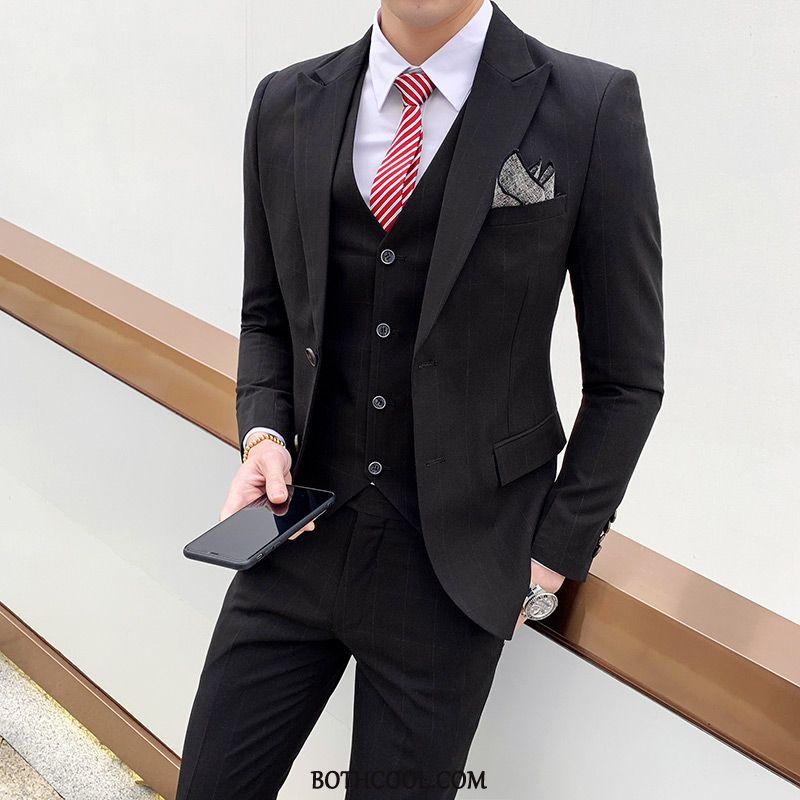 Suits Mens Cheap High-end Trend Set Suit Father Men's Black