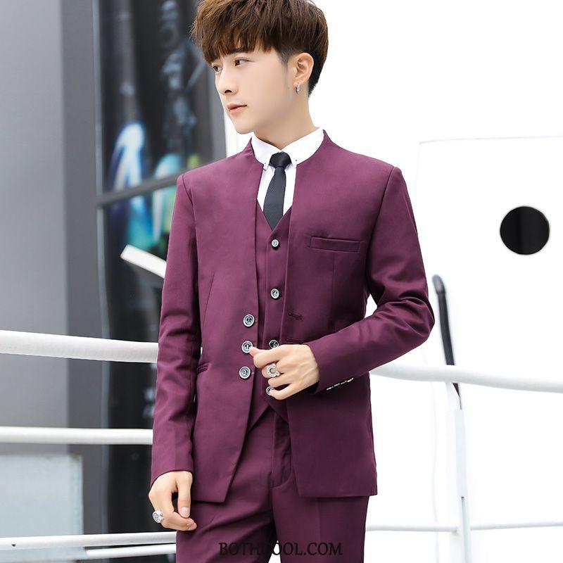 Suits Mens Cheap Slim Fit Suit Fashion Men Set Casual Red