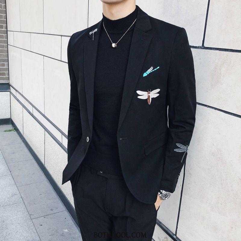 Suits Mens Cheap Suit Suit Big Men's Slim Fit Trend Brand Black