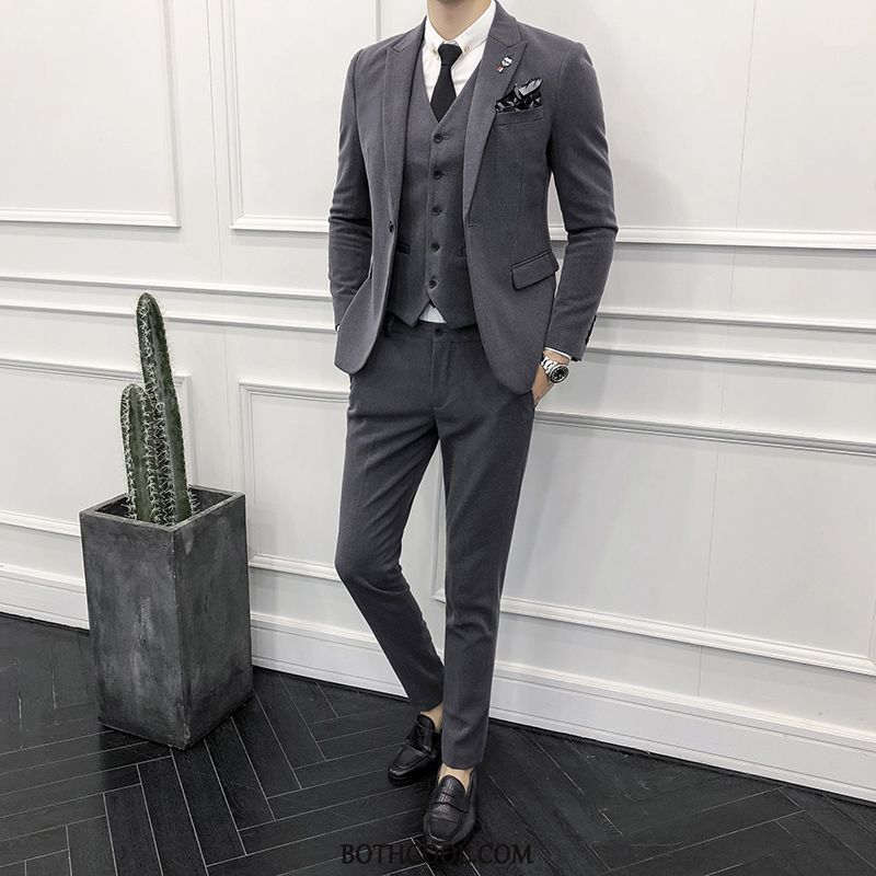 Suits Mens Discount Online Business Suit Clothing Best Man Wedding Bridegroom Khaki