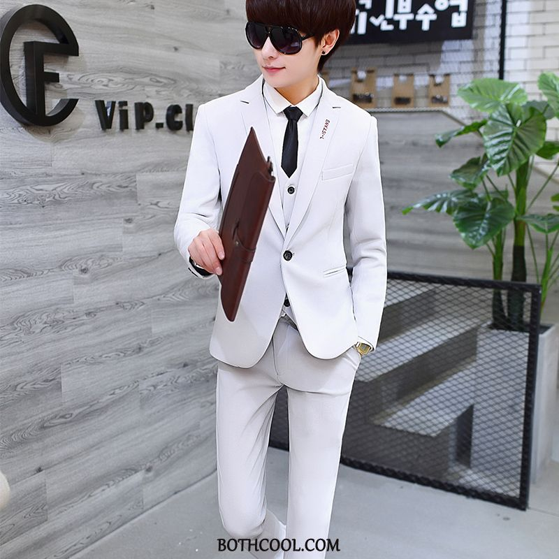 Suits Mens Discount Online Casual Suit Three Sets Formal Suit Suit Youth White
