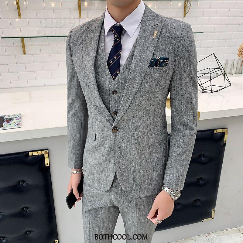 Suits Mens Discount Online Men's Suit Europe Casual Suit Men Gray