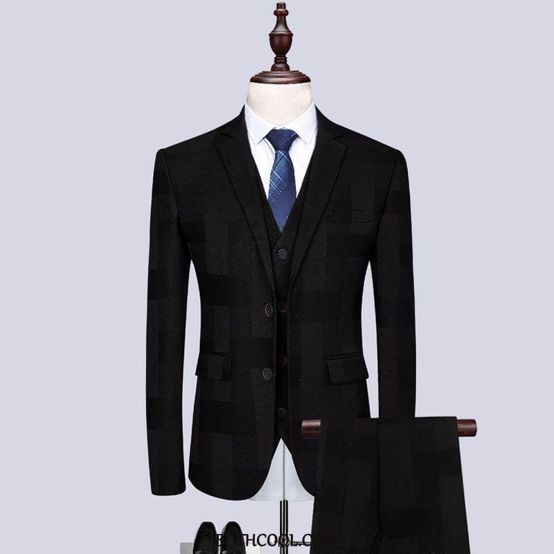 Suits Mens Discount Slim Fit Men New Suit Studio British Black