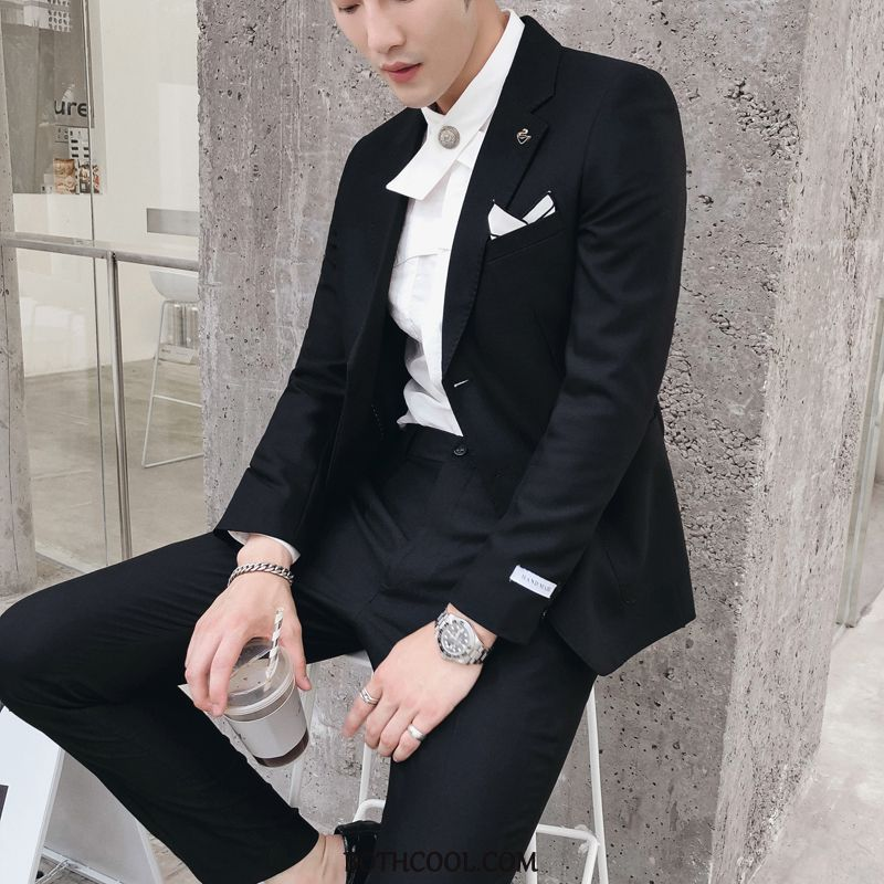 Suits Mens Discount Slim Fit Wedding Presided Over Suit Dress Studio White