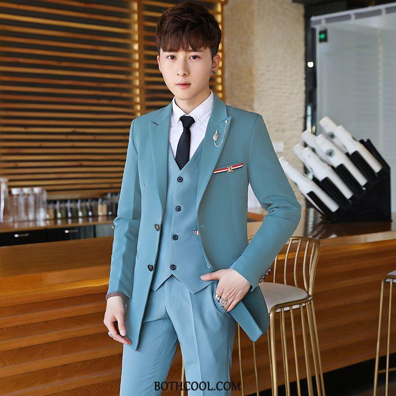 Suits Mens Discount Suit Professional Suit Casual New Business Blue