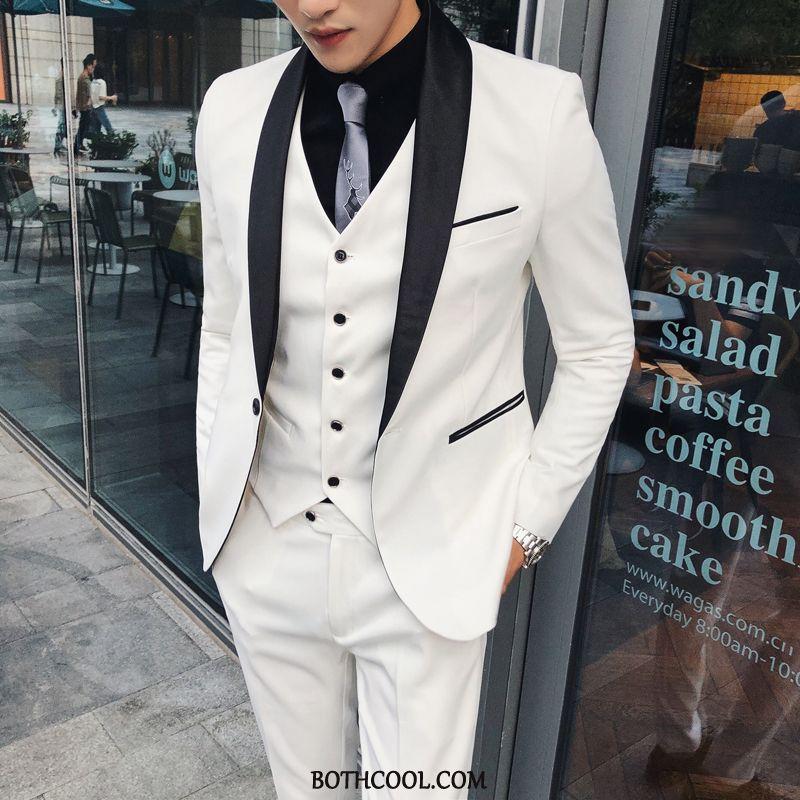 Suits Mens Discount Suit Wedding Slim Fit Business Trend Formal Suit White