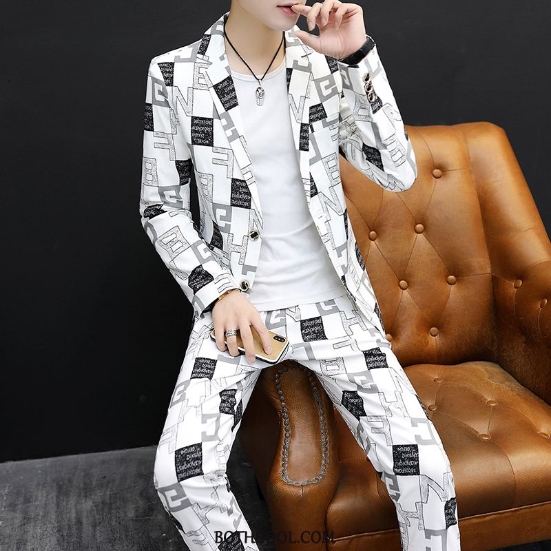 Suits Mens Discount Youth Tops Set Spring Three Sets Autumn White