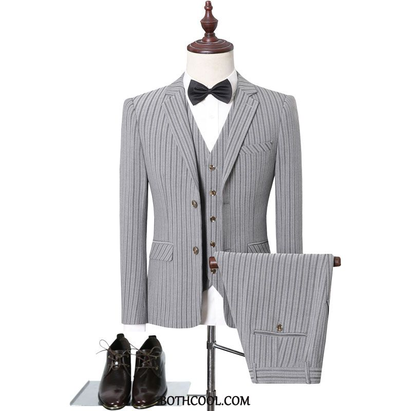 Suits Mens For Sale Europe Professional Business Slim Fit Wedding Suit Gray