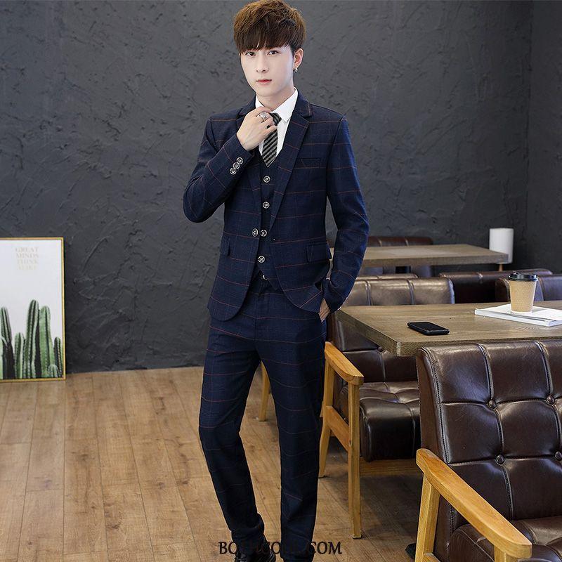 Suits Mens For Sale Europe Set Autumn Trend Men Suit Navy