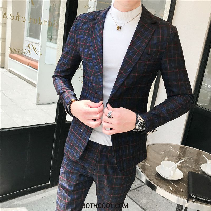 Suits Mens For Sale Handsome Spring Europe Casual Suit Set Black