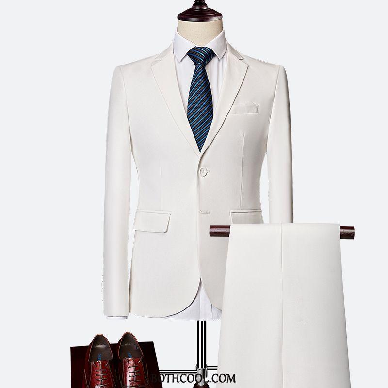 Suits Mens For Sale Set Suit Professional Best Man Slim Fit Bridegroom White