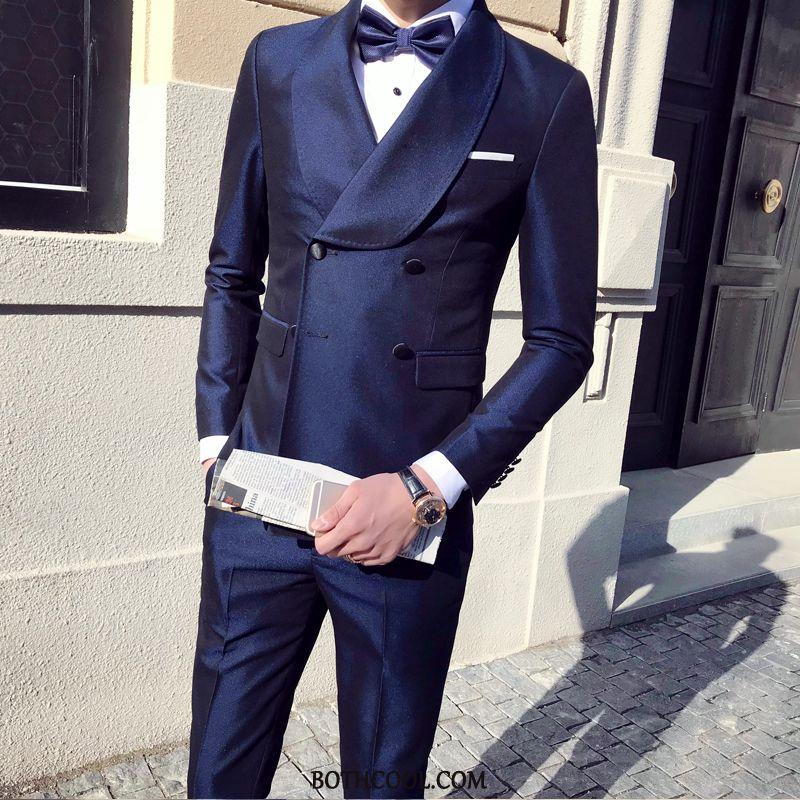 Suits Mens For Sale Slim Fit Suit Three Sets Suit Gentleman Men Navy