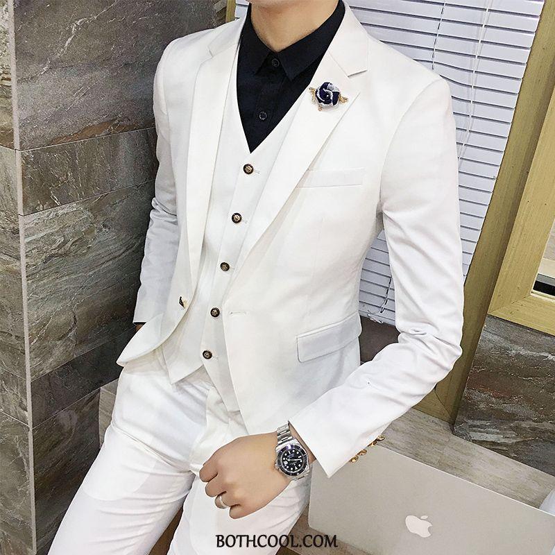 Suits Mens For Sale Slim Fit Trend Suit Suit Summer Europe White