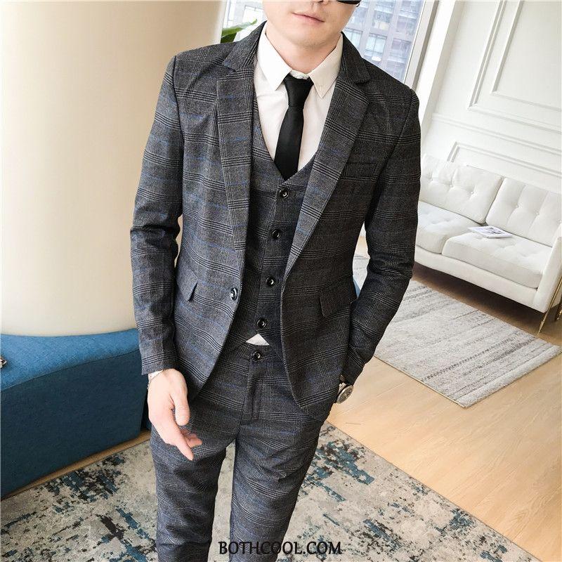 Suits Mens For Sale Trend Suit Europe Checks British Studio Dark Gray
