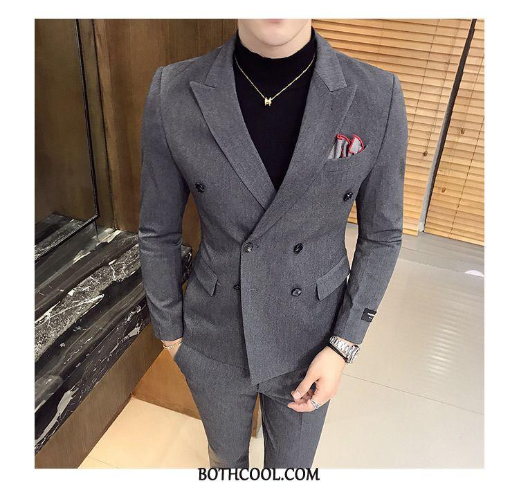Suits Mens For Sale Two Pieces Formal Suit Professional Men's Slim Fit Suit Black
