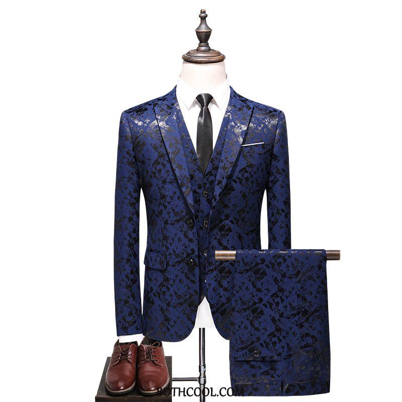 Suits Mens Online Fashion Wedding Banquet Autumn Set Winter New Pattern Blue