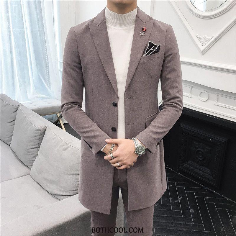 Suits Mens Online Sale Men Europe Men's Suit Set Bridegroom Coffee