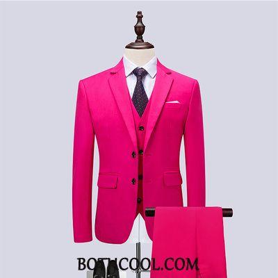 Suits Mens Online Sale Professional Three Sets Fine Suit Set Men's Red