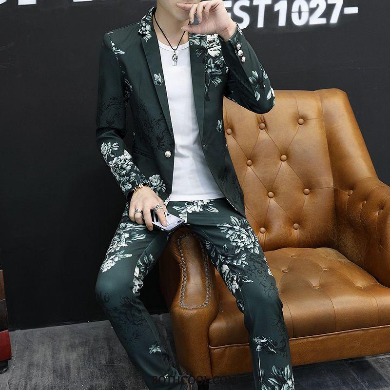 Suits Mens Online Sale Suit Suit Dress Youth Men's Autumn Green