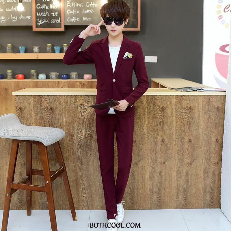 Suits Mens Online Sale Suit Trend Thin Section Suit Slim Fit British Red