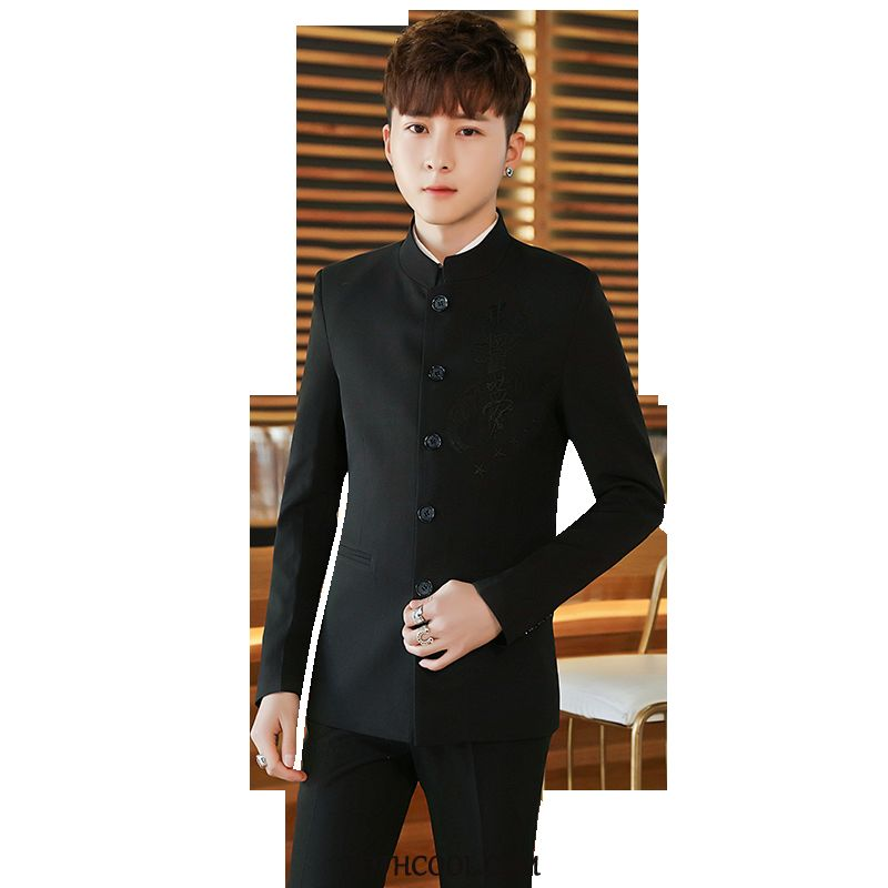 Suits Mens Online Suit Slim Fit Coat Suit Middle British Black