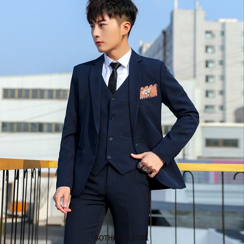 Suits Mens Sale Men Student Suit Business Set Tops Gray