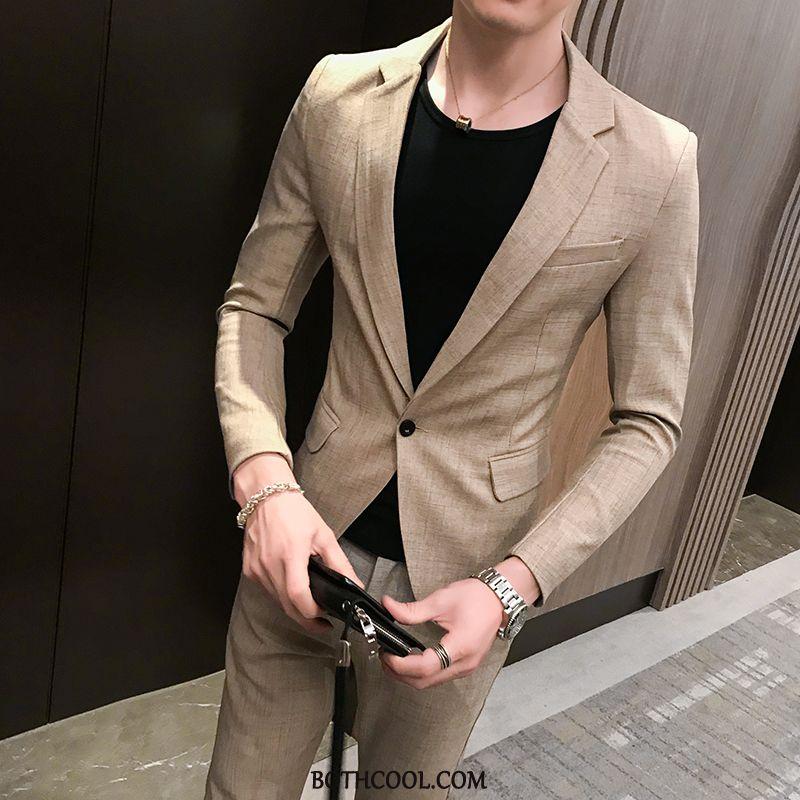 Suits Mens Sale Set Europe Suit Autumn New British Khaki