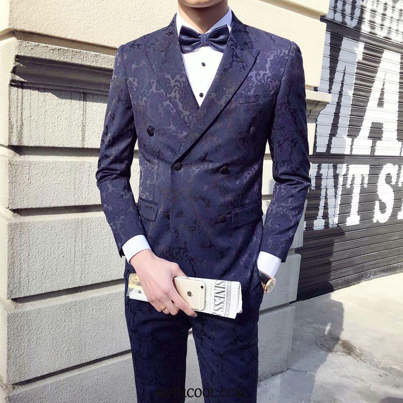 Suits Mens Sale Suit Set Three Sets Men Presided Over Slim Fit Green Dark