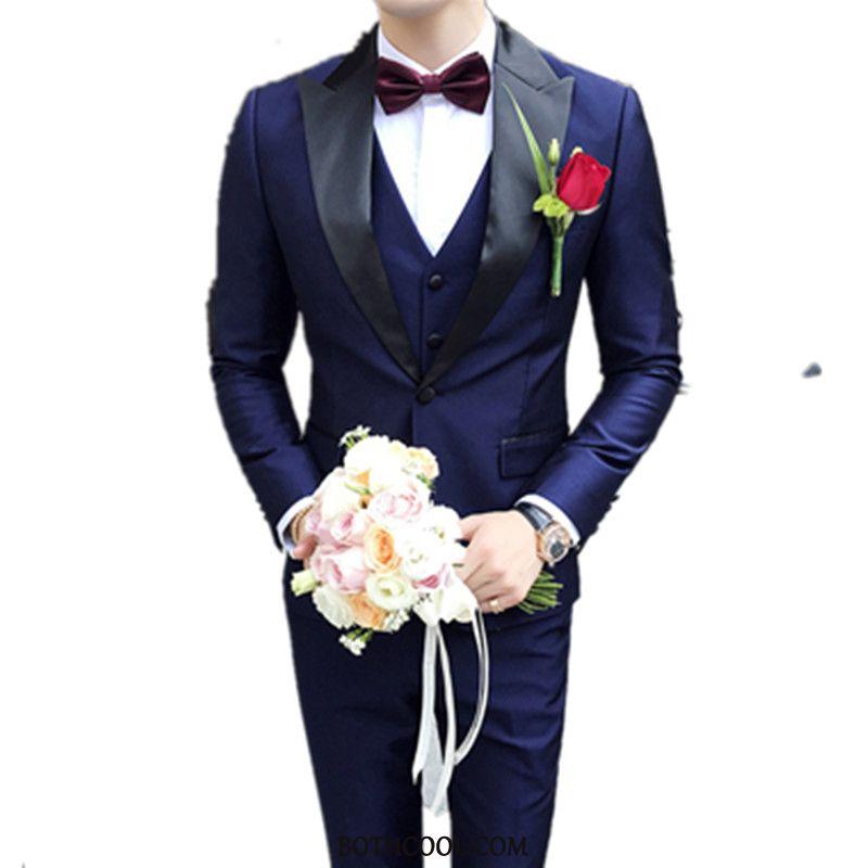 Suits Mens Sale Suit Slim Fit Europe Costumes Men Marriage Blue