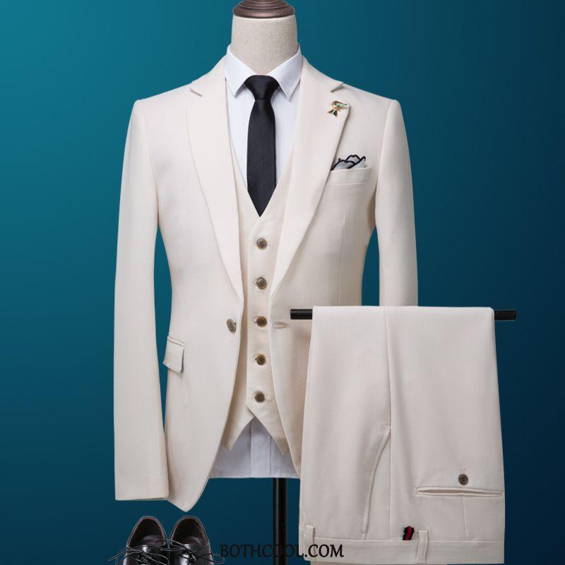 Suits Mens Shop Online Professional Winter Men's Banquet Business Men's White
